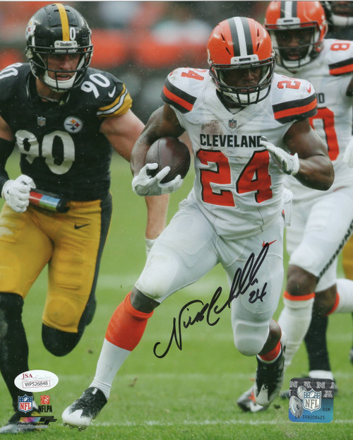 Nick Chubb Cleveland Browns 8-1 8x10 Autographed Photo - PSA Authentic