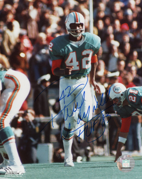 Paul Warfield Miami Dolphins 8-1 8x10 Autographed Photo - Certified Authentic