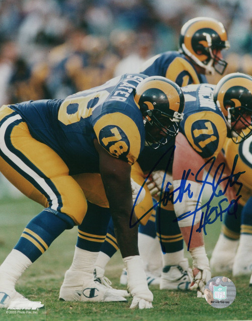 Jackie Slater Los Angeles Rams 8-1 8x10 Autographed Photo - Certified Authentic
