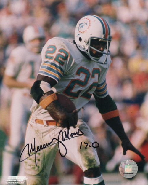 Mercury Morris Miami Dolphins 8-1 8x10 Autographed Photo - Certified Authentic