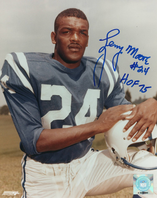 Lenny Moore Baltimore Colts 8-1 8x10 Autographed Photo - Certified Authentic