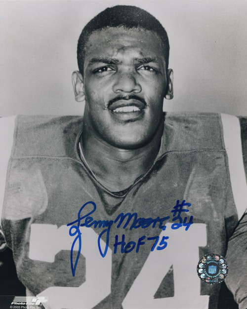 Lenny Moore Baltimore Colts 8-3 8x10 Autographed Photo - Certified Authentic