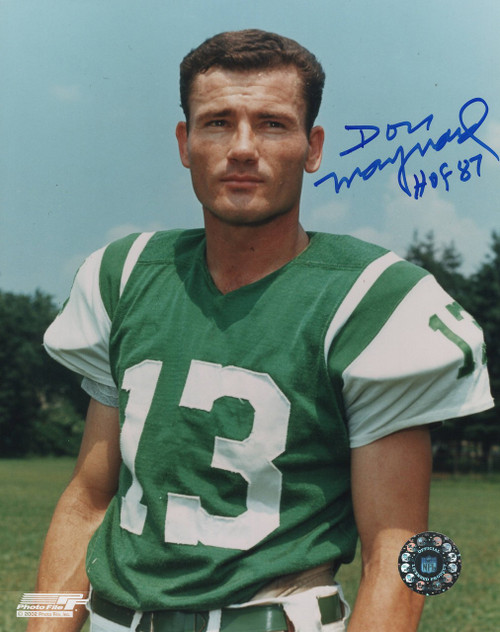 Don Maynard New York Jets 8-2 8x10 Autographed Photo - Certified Authentic