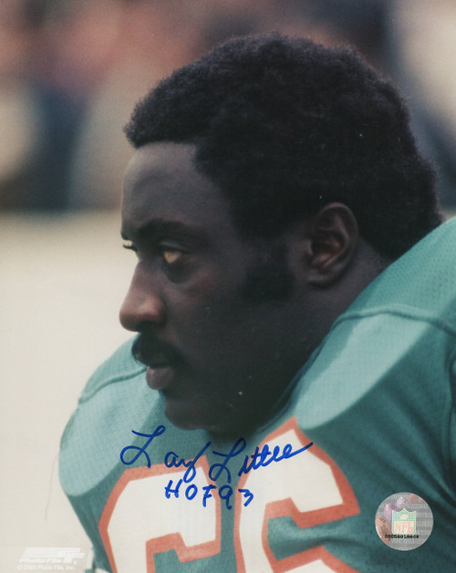 Larry Little Miami Dolphins 8-2 8x10 Autographed Photo - Certified Authentic