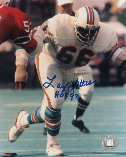 Larry Little Miami Dolphins 8-3 8x10 Autographed Photo - Certified Authentic