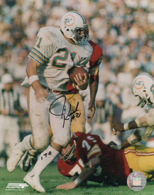 Jim Kiick Miami Dolphins 8-1 8x10 Autographed Photo - Certified Authentic