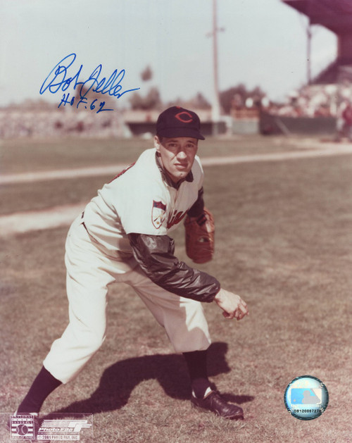 Bob Feller Cleveland Indians 8-1 8x10 Autographed Photo - Certified Authentic