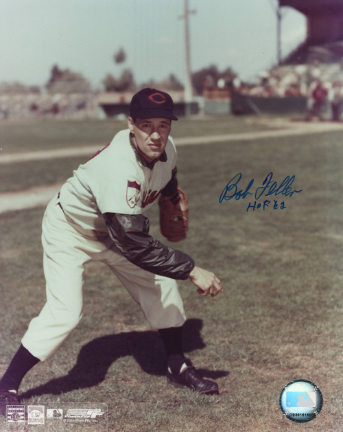 Bob Feller Cleveland Indians 8-2 8x10 Autographed Photo - Certified Authentic