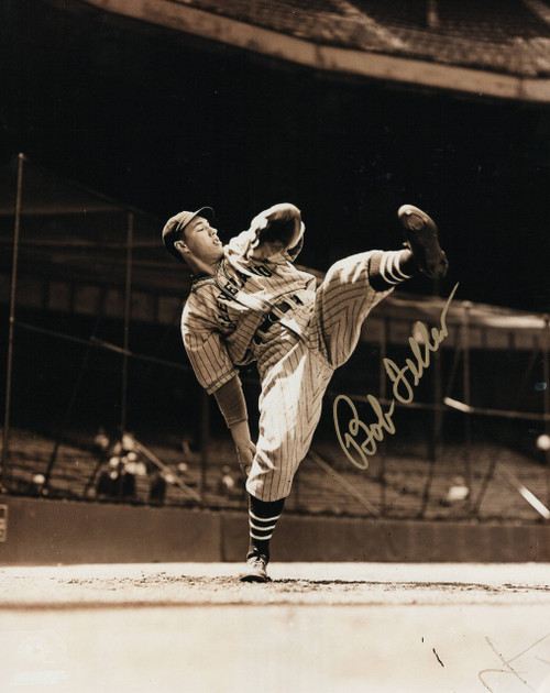 Bob Feller Cleveland Indians 8-3 8x10 Autographed Photo - Certified Authentic