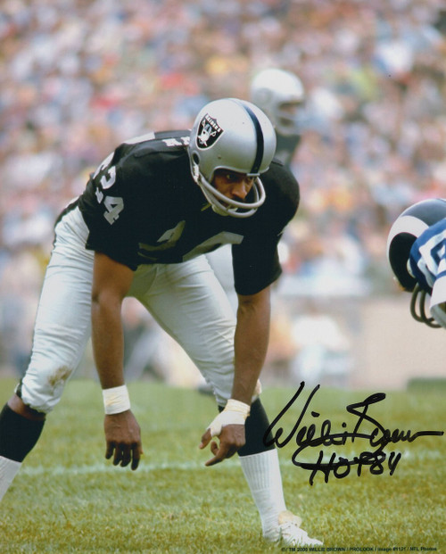 Willie Brown Oakland Raiders 8-1 8x10 Autographed Photo - Certified Authentic