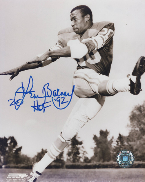 Lem Barney Detroit Lions 8-2 8x10 Autographed Photo - Certified Authentic