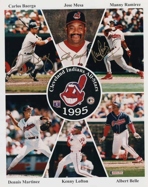 Baerga-Mesa-Ramirez Cleveland Indians 8-1 8x10 Autographed Photo - Certified Authentic