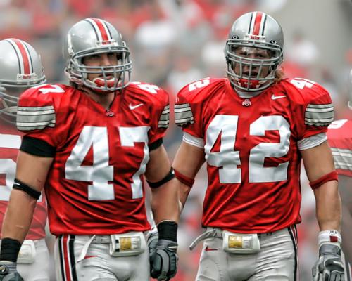 AJ Hawk & Bobby Carpenter Ohio State Buckeyes Licensed Unsigned Photo