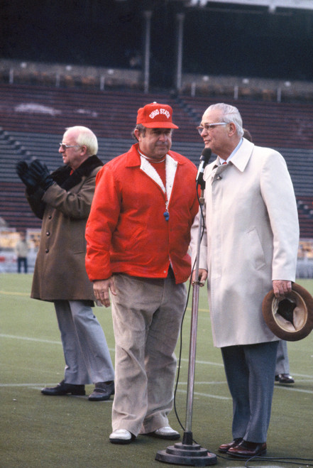 Woody Hayes & Earle Bruce Ohio State Buckeyes Licensed Unsigned Photo