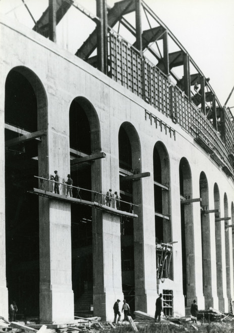1922 Stadium Construction Ohio State Buckeyes Licensed Unsigned Photo