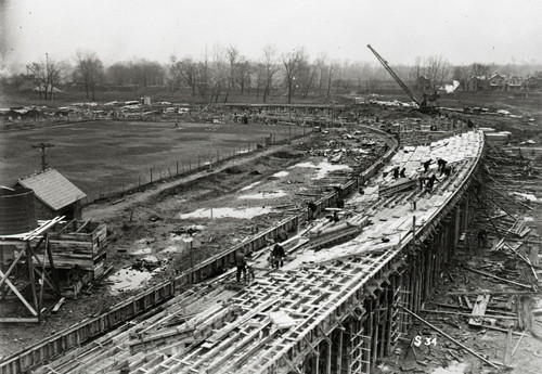1922 Stadium Construction Ohio State Buckeyes Licensed Unsigned Photo (2)