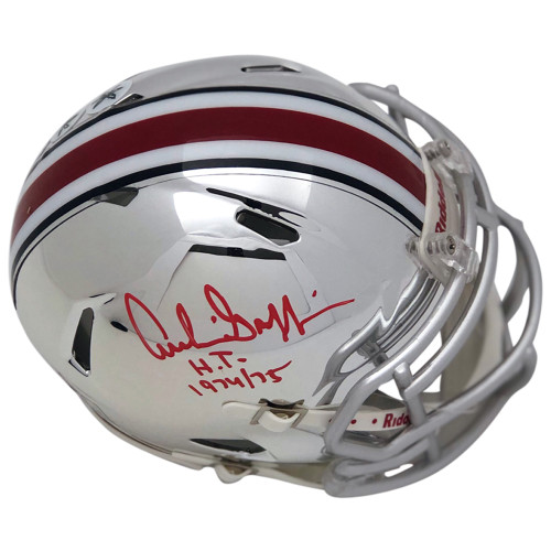 Archie Griffin Ohio State Buckeyes Autographed Chrome Mini Helmet - Certified Authentic