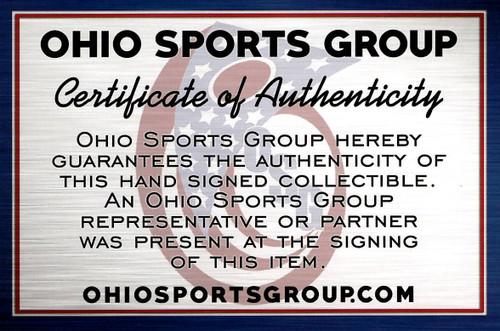 Nick Bosa Ohio State Buckeyes Autographed Camo Mini Helmet - Certified Authentic
