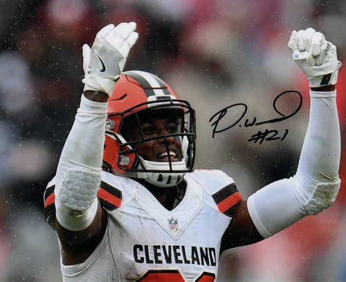 Denzel Ward Cleveland Browns 8-3 8x10 Autographed Photo - Certified Authentic