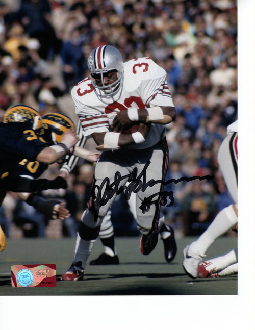 Pete Johnson Ohio State Buckeyes 8-4 8x10 Autographed Photo - Certified Authentic