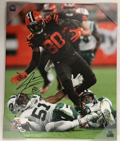 Jarvis Landry Cleveland Browns Autographed 20x24 Canvas 1 - Certified Authentic