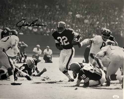 Jim Brown Cleveland Browns 16-2 16x20 Autographed Photo - JSA Authentic