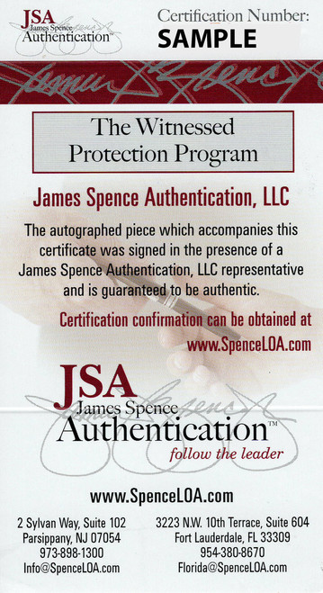 Jim Brown Cleveland Browns 11-1 11x14 Autographed Photo - JSA Authentic