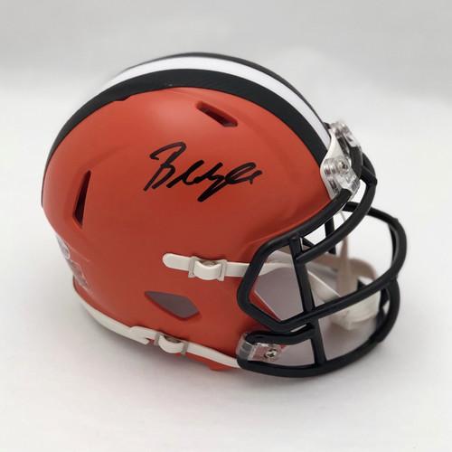 be6f3aca Baker Mayfield Cleveland Browns Autographed Mini Helmet - Beckett COA