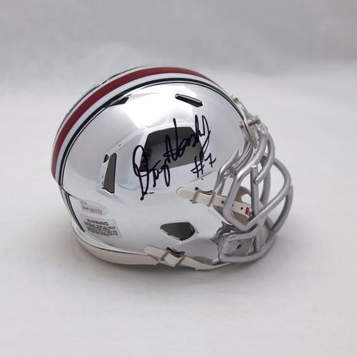 Dwayne Haskins Ohio State Buckeyes Autographed Chrome Mini Helmet - JSA Authentic