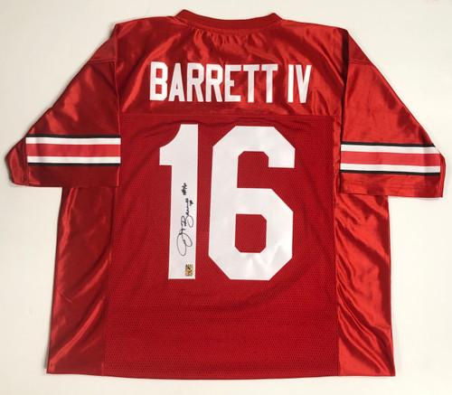 JT Barrett Ohio State Buckeyes Autographed Licensed Jersey - Barrett COA