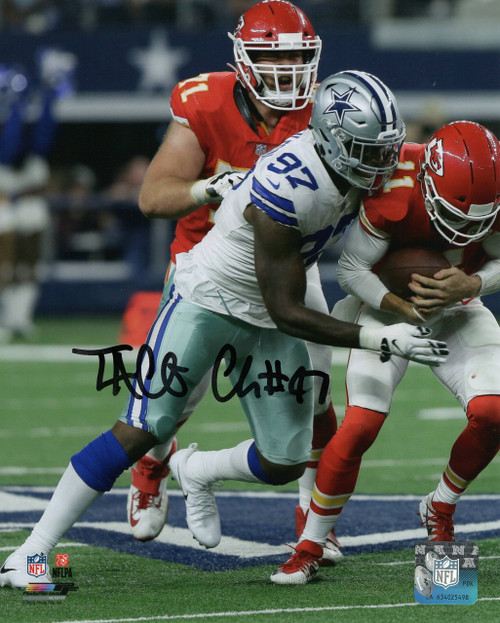 Taco Charlton Dallas Cowboys 8-1 8x10 Autographed Photo - Certified Authentic