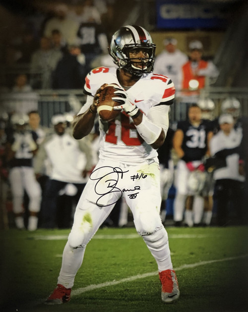 JT Barrett Ohio State Buckeyes 16-10 16x20 Autographed Photo - Certified Authentic