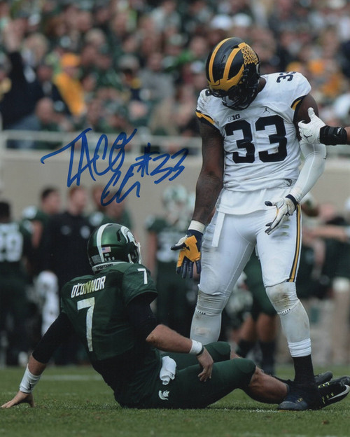 Taco Charlton Michigan Wolverines 8-1 8x10 Autographed Photo - Certified Authentic