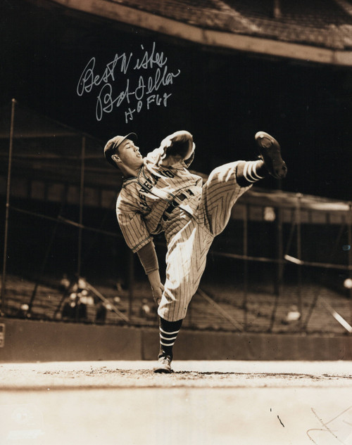 Bob Feller Cleveland Indians 8-6 8x10 Autographed Photo - Certified Authentic