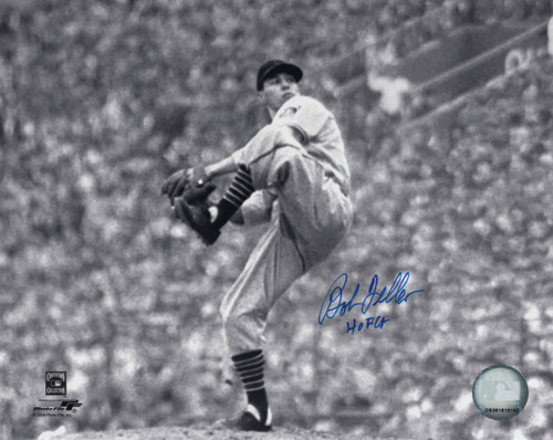 Bob Feller Cleveland Indians 8-7 8x10 Autographed Photo - Certified Authentic