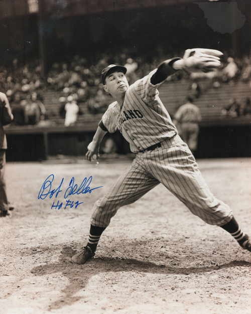 Bob Feller Cleveland Indians 8-8 8x10 Autographed Photo - Certified Authentic