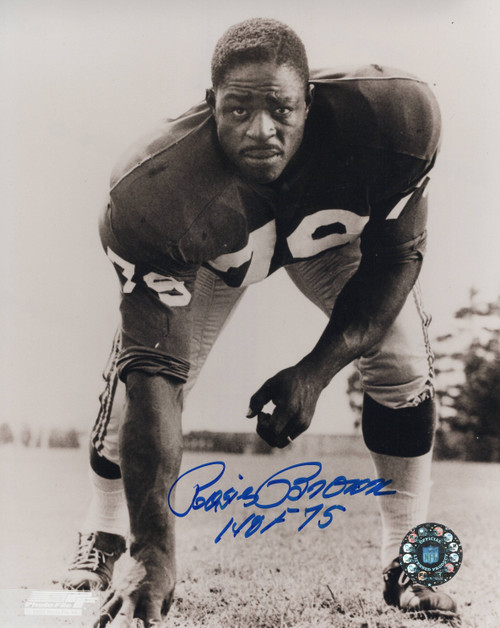 Rosey Brown New York Giants 8-2 8x10 Autographed Photo - Certified Authentic