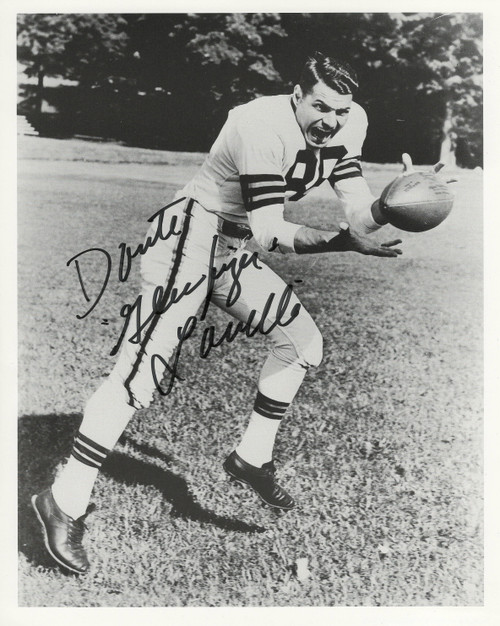 Dante Lavelli Cleveland Browns 8-5 8x10 Autographed Photo - Certified Authentic