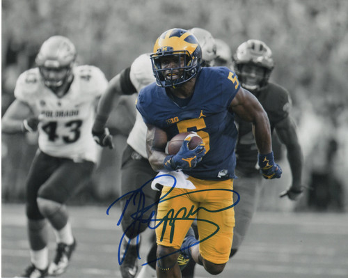 Jabrill Peppers Michigan Wolverines 8-4 8x10 Autographed Photo - Certified Authentic