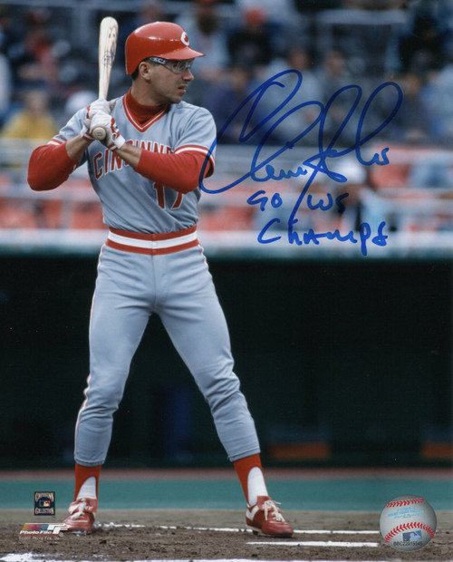 Chris Sabo Cincinnati Reds 'WS MVP' 8x10 Autographed Photo - Certified Authentic