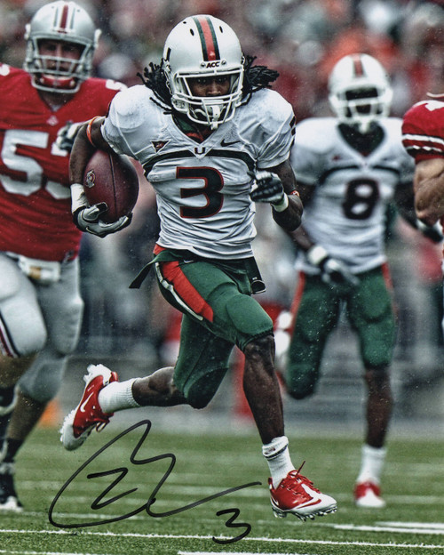 Travis Benjamin Miami Hurricanes 8x10 Autographed Photo - Certified Authentic