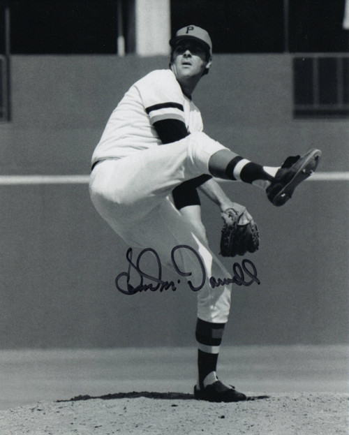 Sam McDowell Pittsburgh Pirates 8-1 8x10 Autographed Photo - Certified Authentic