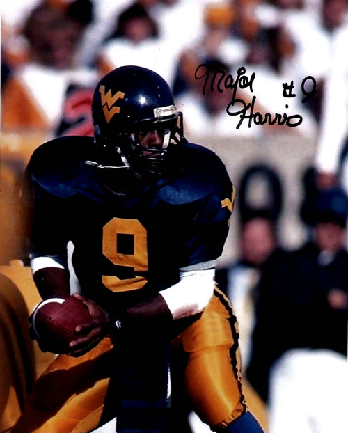 Major Harris West Virginia Moutaineers 8-1 8x10 Autographed Photo - Certified Authentic