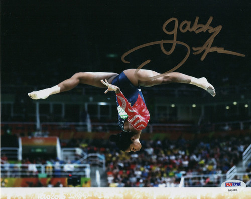 Gabby Douglas Team USA Gymnastics 8-2 8x10 Autographed Photo - PSA Authentic