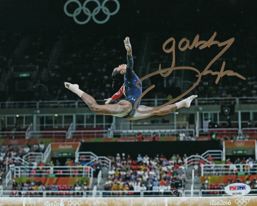 Gabby Douglas Team USA Gymnastics 8-4 8x10 Autographed Photo - PSA Authentic