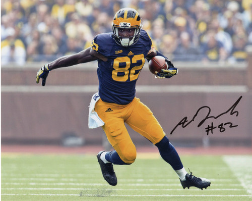 Amara Darboh Michigan Wolverines 8-2 8x10 Autographed Photo - Certified Authentic