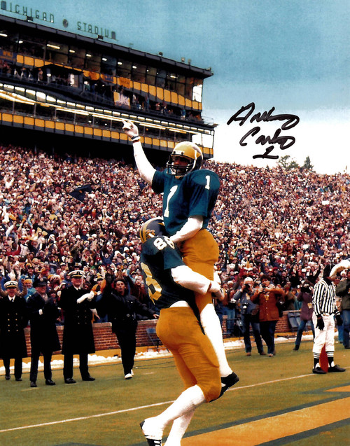 Anthony Carter Michigan Wolverines 8-1 8x10 Autographed Photo - Certified Authentic