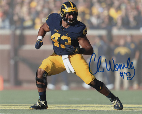 Chris Wormley Michigan Wolverines 8-2 8x10 Autographed Photo - Certified Authentic