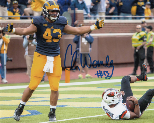 Chris Wormley Michigan Wolverines 8-3 8x10 Autographed Photo - Certified Authentic