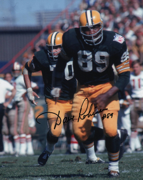 Dave Robinson Green Bay Packers 8-1 8x10 Autographed Photo - Certified Authentic